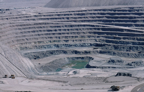 Chuquicamata copper mine, Chile 1984 (Wikimedia)
